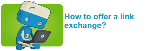 How to offer a link exchange?